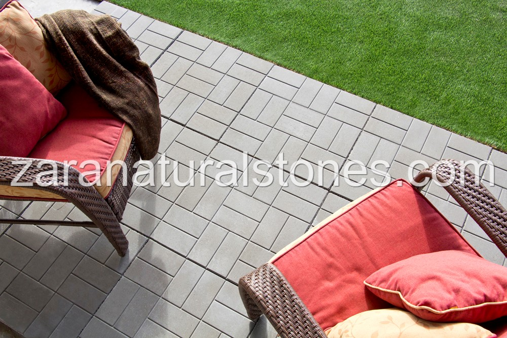 BWS Standard Press Patio Slabs   Concrete Brick Pattern Patio Slabs