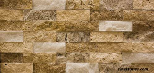 Scabos Travertine Split Face Wall Cladding Vaneer Wall