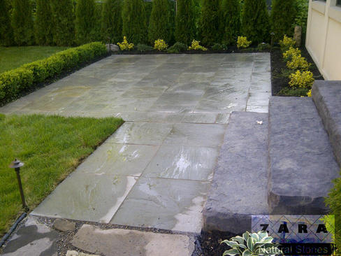 Square Flagstone Patio Grey Pavers