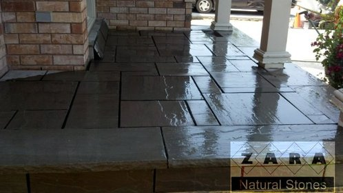 Zara Slate Grey Paving Stone Dark Grey Outdoor Flooring