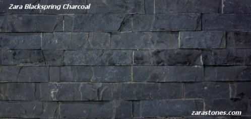 Blackspring Charcoal Wall Cladding Fireplace Stone Veneers