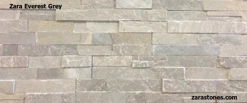 Everest Grey Wall Cladding Fireplace Stone Veneers