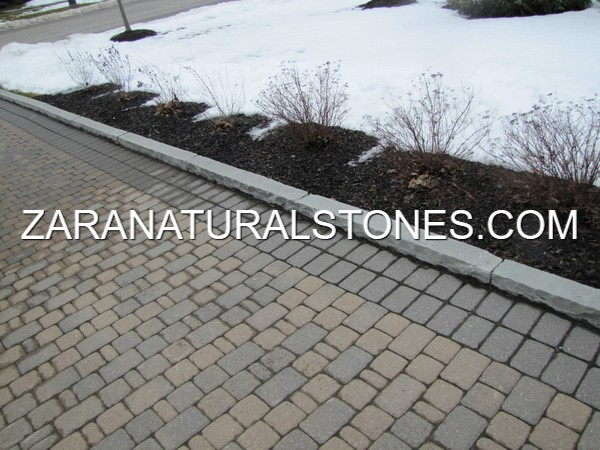 Light Grey Natural Stone Curbs Toronto Woodbridge Bolton
