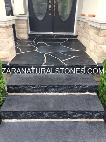 Kota Black Natural Stone Steps Toronto Vaughan Kleinburg
