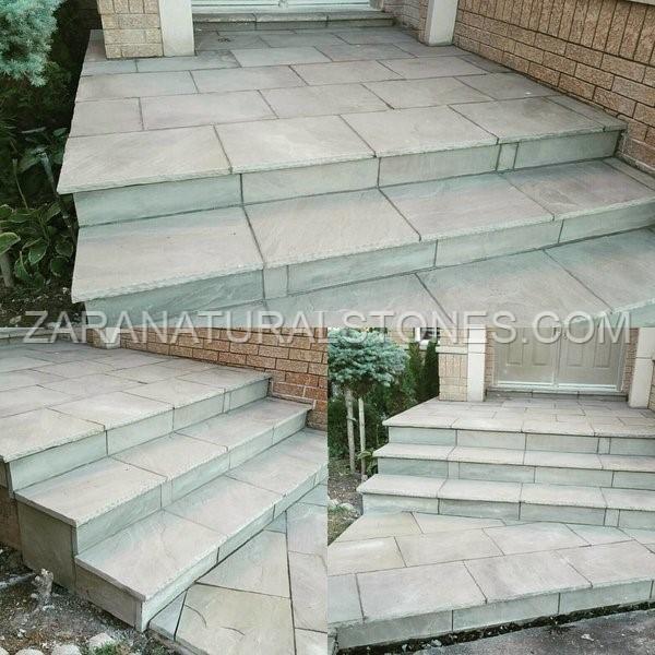 Light grey consistent color & Grey paving stone grey outdoor flooring slabs Bolton GTA