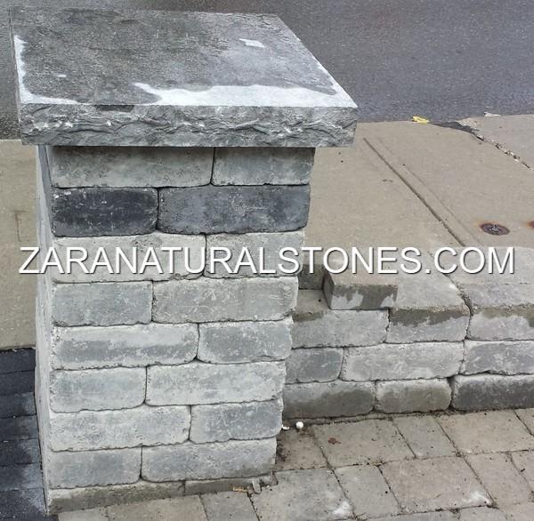 Grey Stone Pillars : Silver grey pier caps toronto vaughan kleinburg bolton king