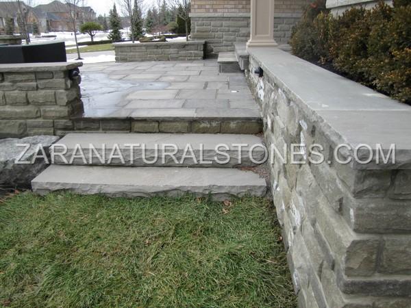Slate Grey Natural Stone Steps Toronto Vaughan Kleinburg