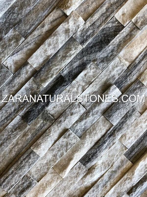 Natural Stone Veneers ǀ Faux Stone Siding ǀ Stone Veneer: Snow Grey BBQ Facing Fireplace Veneer Stones