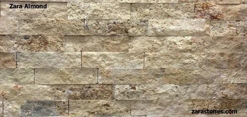 Almond Wall Cladding Fireplace Stone Veneer Travertine