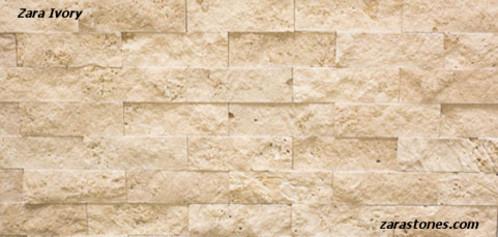 Ivory Wall Cladding Fireplace Stone Veneer Travertine