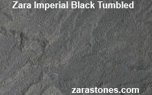 Zara Imperial Black Tumbled Patio Pavers Saga paving stones